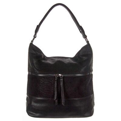 Urban f165 fekete kígyóbetétes női táska