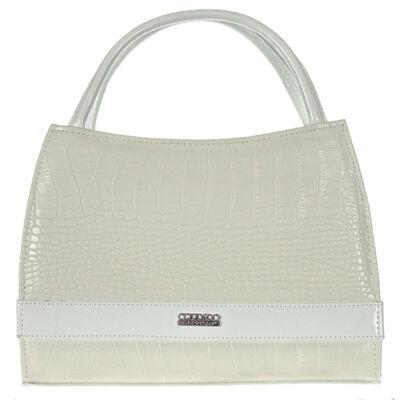 Corrado M Basia fehér-tört fehér  rostbőr női táska