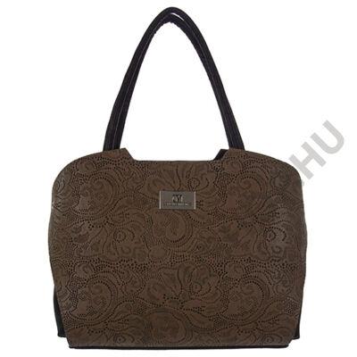CM Irena kávé fekete kombinált női táska