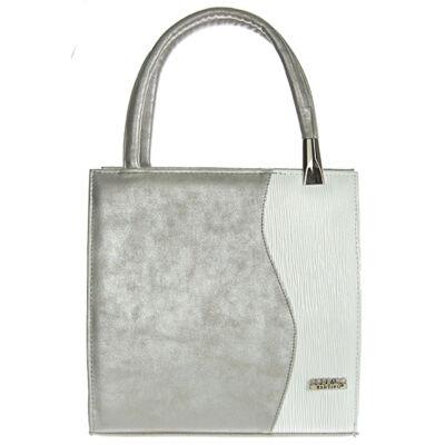 Nike ll ezüst-fehér rostbőr női táska