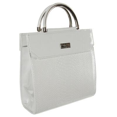 Díva-324-2 fehér krokós női táska