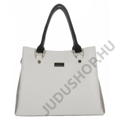 Díva 611 fehér-fekete-női táska