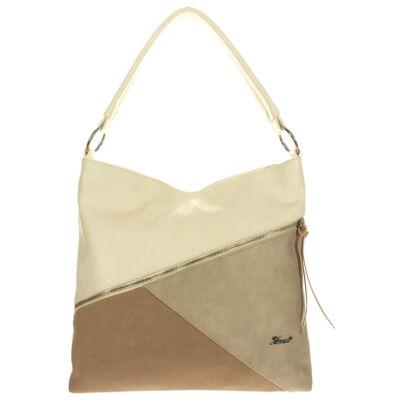 Karen 1514 bézs rostbőr táska