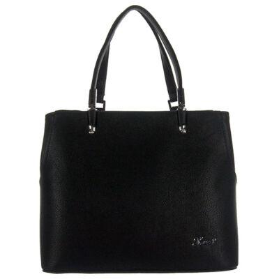 Karen 2289 fekete rostbőr táska