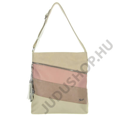 Karen 9281 drapp-pink rostbőr táska