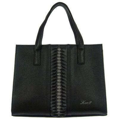 Karen 9315 fekete rostbőr táska