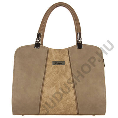 Karen virágbetétes kávé színű női táska D341