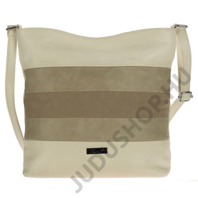 Karen d391 bis drapp-kávé rostbőr táska