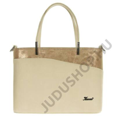 Karen d444 bézs-arany rostbőr táska
