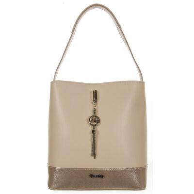 Prestige  m95 drapp női rostbőr táska
