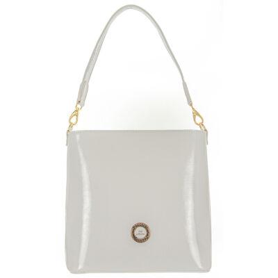 Prestige m254 fehér rostbőr táska