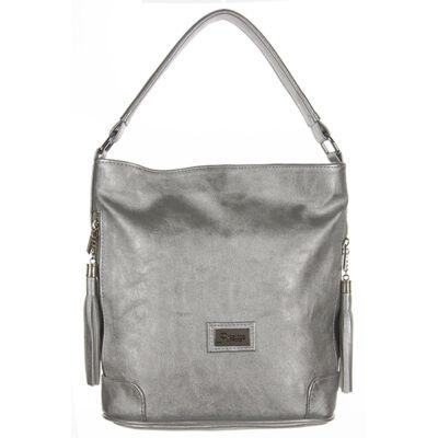 Prestige m86-1 ezüst színű rostbőr női táska