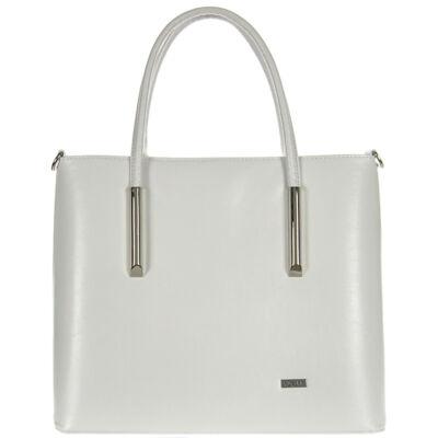 Via55 1235 fehér rostbőr női táska