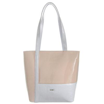Via 55-1276 fehér-pink rostbőr női táska