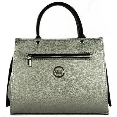 VIA 55 1366 ezüst-fekete rostbőr táska eleje