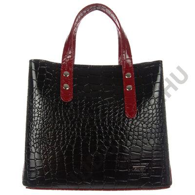 1403 krokos, fényes fekete- piros női táska