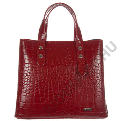 1403 krokos, fényes piros női táska