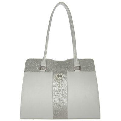VIA 55 1428 fehér-ezüst női válltáska