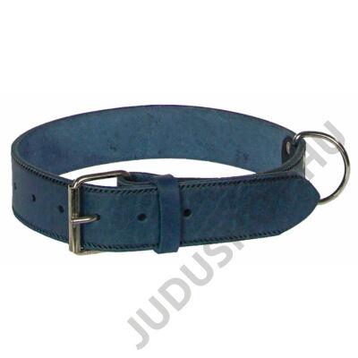 4 cm széles szélnyomott kék bőr nyakörv