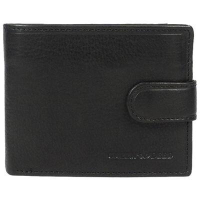GN9641-T fekete férfi bőr pénztárca eleje