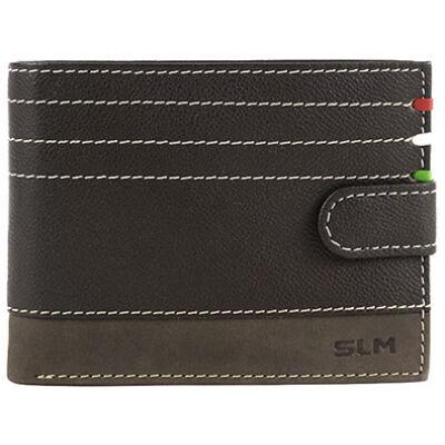 SE-09/T barna férfi bőr pénztárca eleje