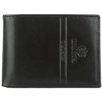 Valentini 1055 kis méretű fekete belül kapcsos férfi bőr pénztárca eleje