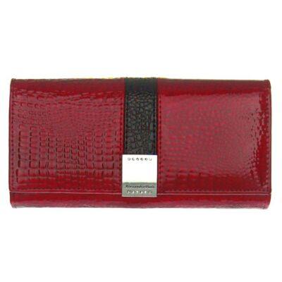 Alessandro P 0369-piros lakkbőr pénztárca