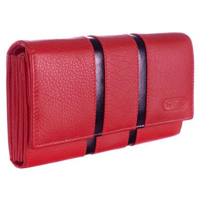 by Lupo 14005 piros bőr pénztárca