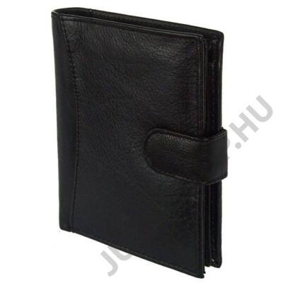 1425-l fekete bőr pénztárca