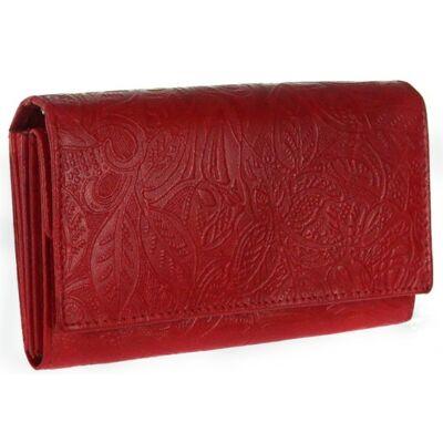 Farkas 8670-4-2 leveles piros bőr pénztárca