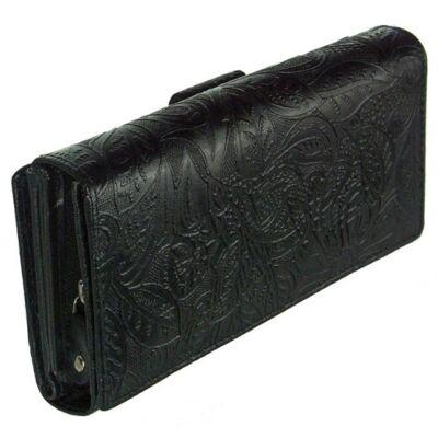 Farkas 8674-8-2 fekete női bőr pénztárca