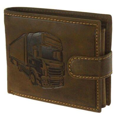 Kamion nyomású nyers marhabőr pénztárca