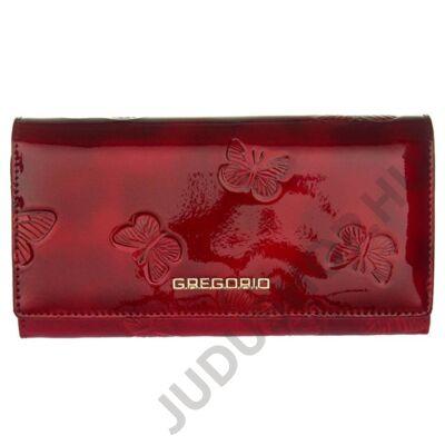 Gregorio 106 piros lepkés-bőr pénztárca