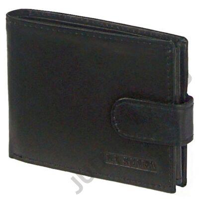 Lascala 01/t fekete bőr férfi pénztárca
