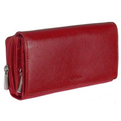 LaScala dco34 piros bőr pénztárca