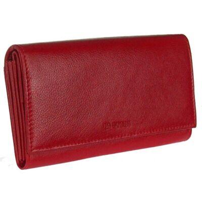 LaScala dco438-piros bőr pénztárca