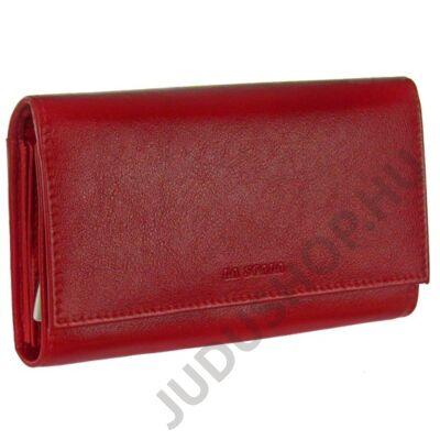 La Scala dco064 piros bőr pénztárca