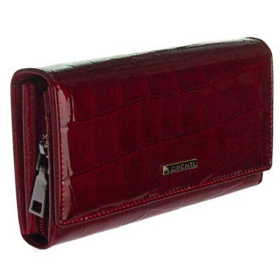 76111 cb piros krokos lakk bőr női pénztárca