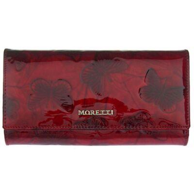 Moretti 045-2 piros pillangós lakkbőr pénztárca