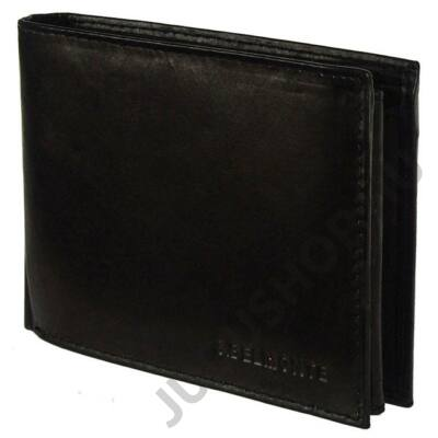 S.Belmonte adc11a fekete bőr pénztárca