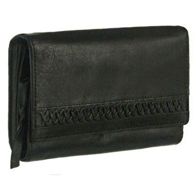 Mfs 100 fekete bőr pénztárca