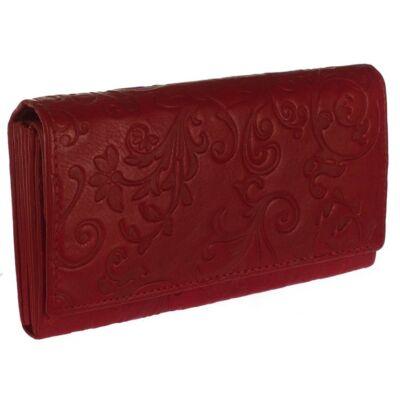 S. Belmonte indamintás piros bőr pénztárca