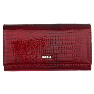 Vaa 55 V-7611-rs piros lakkbőr pénztárca