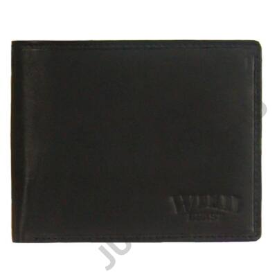 Wild swb1021 fekete férfi bőr pénztárca