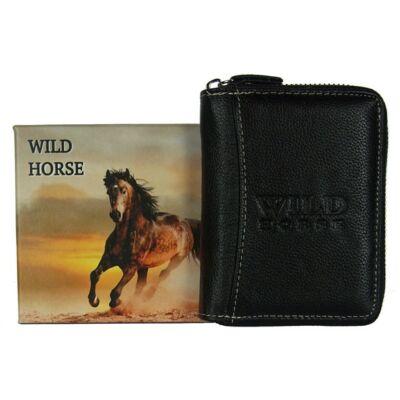 Wild Horse 62-8 fekete bőr pénztárca