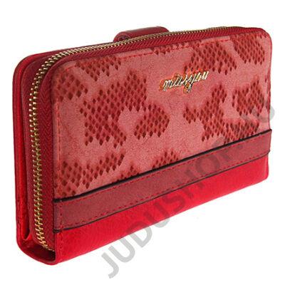 16806 piros műbőr pénztárca