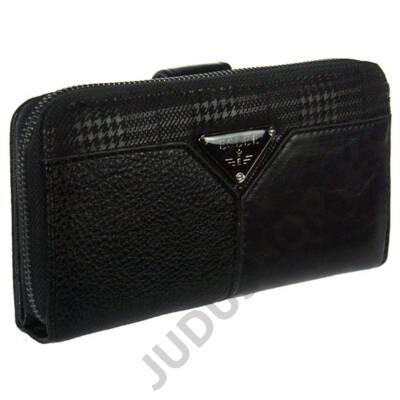 Eslee 6689 fekete műbőr pénztárca