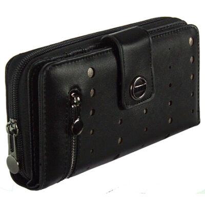 Angel ag4067 fekete műbőr pénztárca