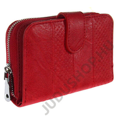 c120 piros műbőr pénztárca