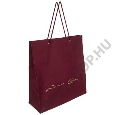 Zsinór fogós bordó textil táska